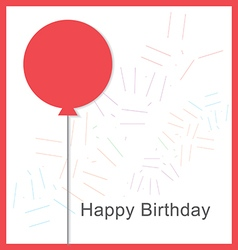 Birthday card with balloons and birthday text2 vector image