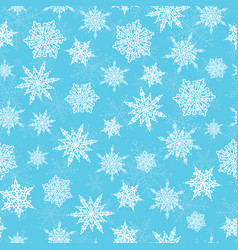 Blue white hand drawn christmass snowflakes vector