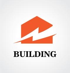 Building energy electricity logo vector