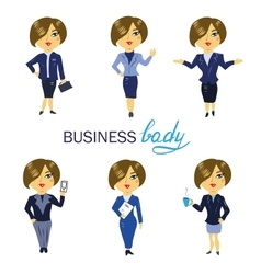 Business woman avatars and icons Cartoon vector image