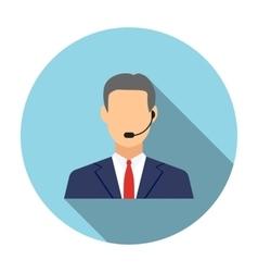 Call center operators man avatar icons vector