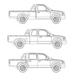 Car pickup truck vector