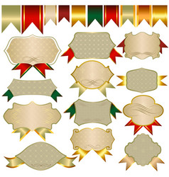 collection of banners and ribbons for design vector image vector image