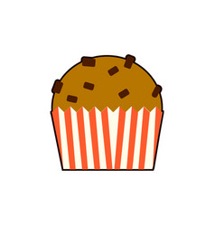 cupcake icon in flat style isolated on white vector image vector image