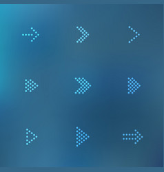 dotted arrows set vector image vector image