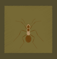 Flat shading style cartoon ant vector