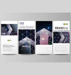flyers set modern banners cover templates vector image