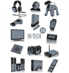 High tech silhouettes vector