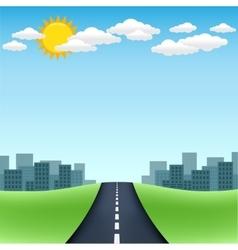Horizon road city trip vector