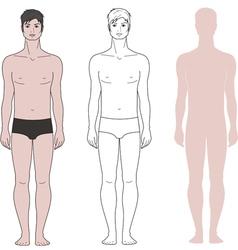 Man figure vector image