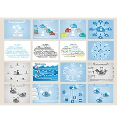 MEGA COLLECTION WEB CLOUD COMPUTING INFOGRAPHIC vector image vector image