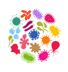 microorganism and primitive infection virus vector image