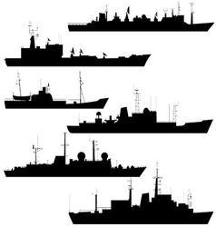 Reconnaissance ship vector