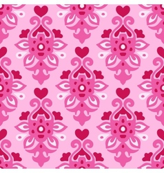 Seamless pattern Flourish love heart vector image vector image