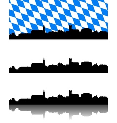 Silhouette of Furth im Wald Bavaria vector image vector image