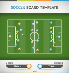 Soccer Infographic vector image vector image