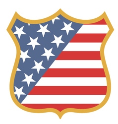 USA shield vector image vector image
