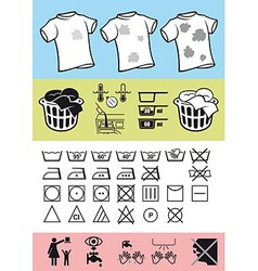 Handling and care of clothing vector