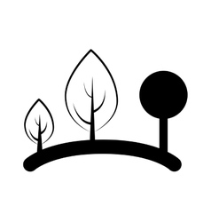 Tree forest ecology symbol vector