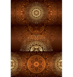 Set of brown vintage floral backgrounds vector image