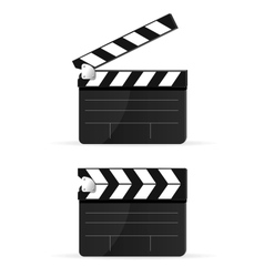 Movie clapper board set isolated vector image