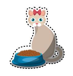 cute kitty mascot icon vector image
