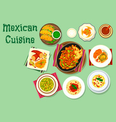 Mexican cuisine traditional food icon vector