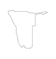 Namibia map silhouette vector