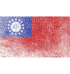 Flag of myanmar burma with old texture vector