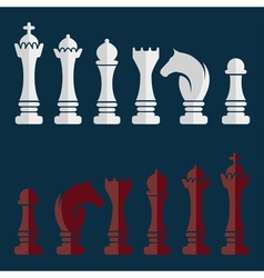 flat set of chess icons vector image