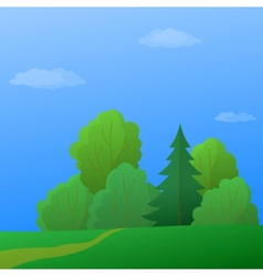 Summer forest vector