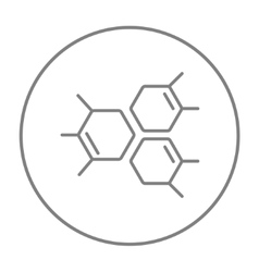 Chemical formula line icon vector