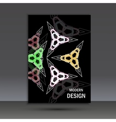 Modern abstract design cover template vector
