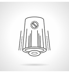 Automatic air freshener flat line icon vector