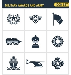 Icons set premium quality of military awards and vector