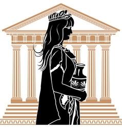 Romane on temple vector image