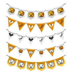 Halloween bunting flags vector