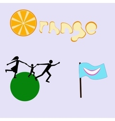 A set of logos vector image vector image