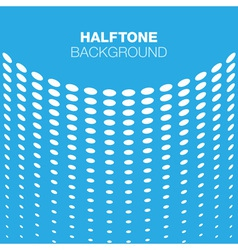Abstract blue white halftone background vector