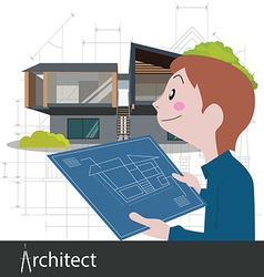architect work project vector image vector image