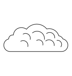 Autumn cloud icon outline style vector