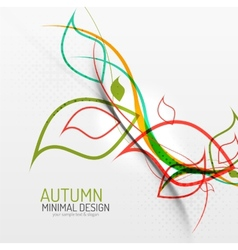 Autumn floral minimal background vector image