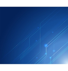 Background design with lines on blue background vector