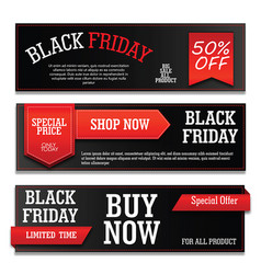 Banner black friday with text vector