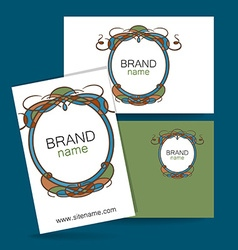 brand name frame logo vector image
