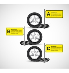Car Wheel Infographic Design Template vector image