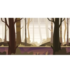 Cartoon nature seamless landscape with forest vector image vector image