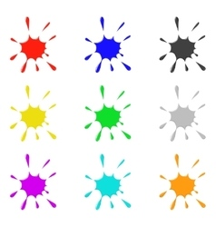 Colored ink vector
