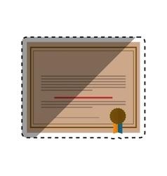 Diploma educational certification vector
