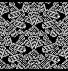 Geometric grunge tapestry seamless pattern vector